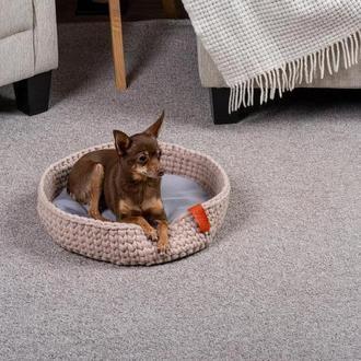 Лежак для кошек и собак Pets Lounge Fleece Nest, бежевый