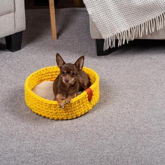 Лежак для кошек и собак Pets Lounge Fleece Nest, жёлтый