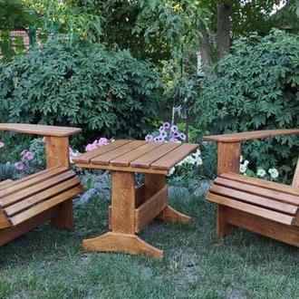 Кресло адирондак  2 шт и столик