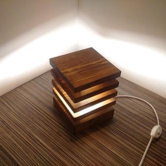 Светильник ночник настольный из дерева