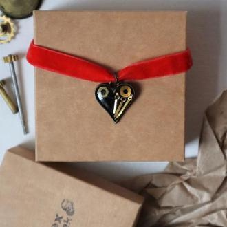 Романтический стимпанк чокер Сердце