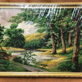 "Картина из бисера ""Лесное озеро"""