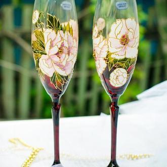Свадебные бокалы из богемского стекла ′Pion marsal′