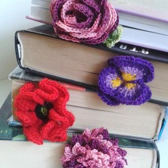 """Закладки для книг """"Цветы"""" (набор из 5 закладок)"""