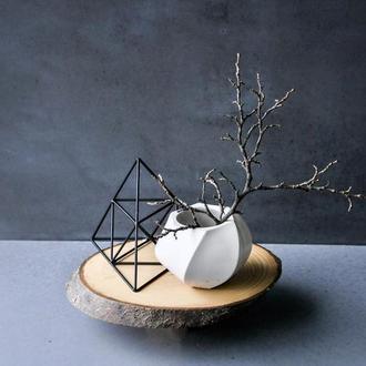Кашпо для суккулентов скандинавский мох из бетона лофт декор