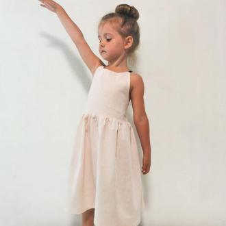 Летний сарафан с открытой спиной, детская одежда пастельных цветов