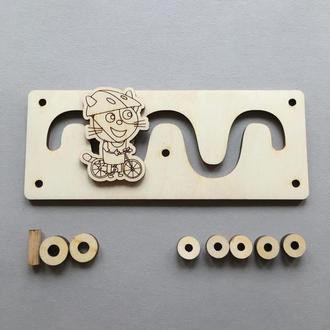 Лабиринд Кот для бизиборда 150х60мм