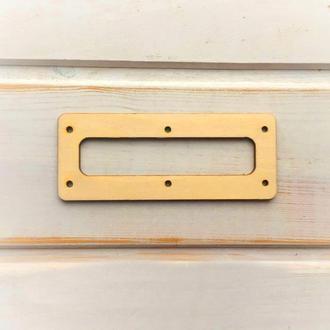 Прямоугольная основа под молнию для бизиборда 150х40мм