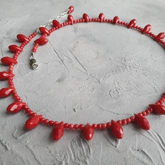Бусы ′Натуральные красные кораллы′.