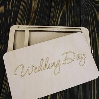 Коробочка под свадебные фотографии и флешку