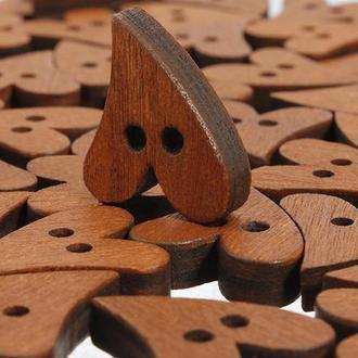 Пуговица деревянная Сердечко