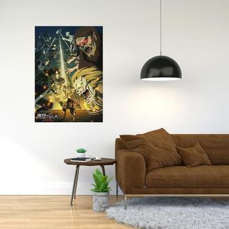 """Плакат-постер с принтом """"Attack on Titan - Вторжение титанов (японская манга) 10"""