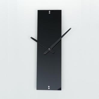 Часы настенные из стекла Strip 1, черные