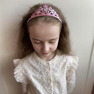 Корона для принцеси рожева менша