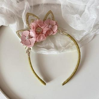 Корона для принцеси рожева на бік