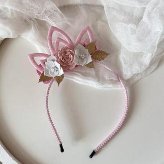 Корона для принцеси рожева на бік 2