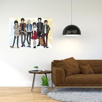 """Плакат-постер с принтом """"Bungo Stray Dogs - Проза бродячих псов (манга, аниме сериал) 7"""""""