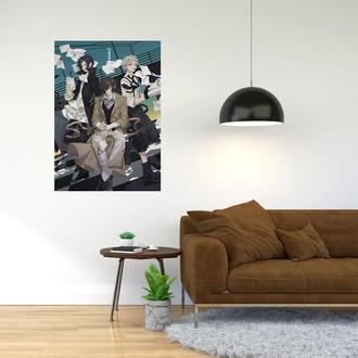 """Плакат-постер с принтом """"Bungo Stray Dogs - Проза бродячих псов (манга, аниме сериал) 10"""""""