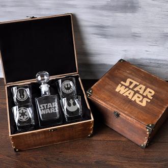 Мужской подарочный набор для виски с гравировкой «Звездные войны»