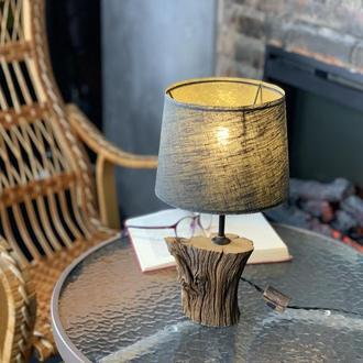 Современный настольный светильник из дуба Уникальная настольная лампа Абажур