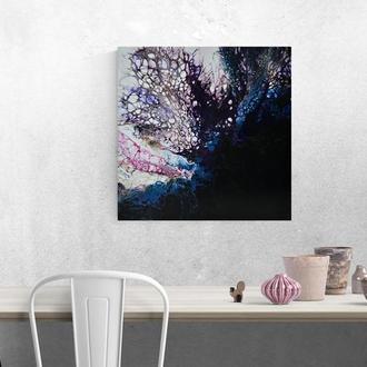 Картина абстракция жидким акрилом