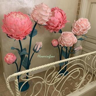 9 Больших гигантских бумажных цветов садовых роз и пионов!