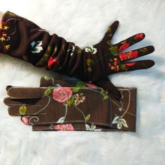 Перчатки  высокие .перчатки женские