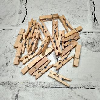 Декоративные прищепки деревянные, 3,5 см, 25 шт
