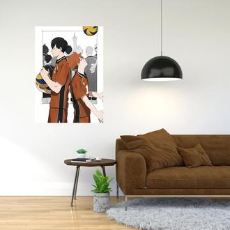 """Плакат-постер с принтом """"Haikyuu - Волейбол (спортивная манга, аниме) 5"""""""