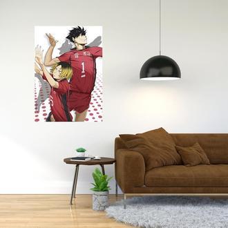 """Плакат-постер с принтом """"Haikyuu - Волейбол (спортивная манга, аниме) 7"""""""