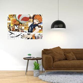 """Плакат-постер с принтом """"Haikyuu - Волейбол (спортивная манга, аниме) 12"""""""