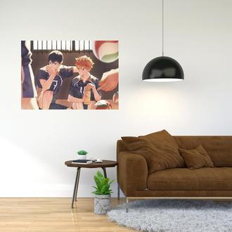 """Плакат-постер с принтом """"Haikyuu - Волейбол (спортивная манга, аниме) 13"""""""