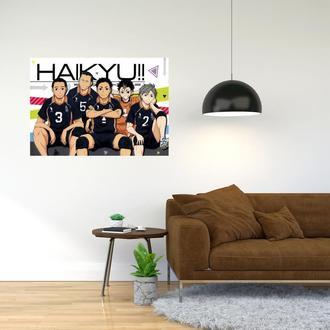 """Плакат-постер с принтом """"Haikyuu - Волейбол (спортивная манга, аниме) 15"""""""