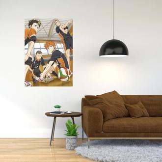 """Плакат-постер с принтом """"Haikyuu - Волейбол (спортивная манга, аниме) 16"""""""