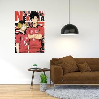 """Плакат-постер с принтом """"Haikyuu - Волейбол (спортивная манга, аниме) 18"""""""