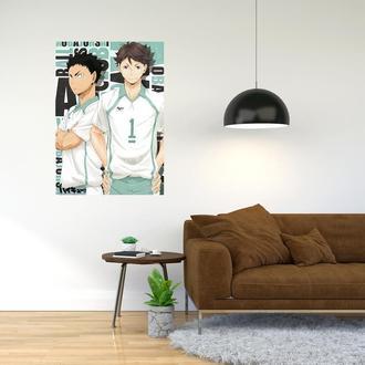 """Плакат-постер с принтом """"Haikyuu - Волейбол (спортивная манга, аниме) 19"""""""