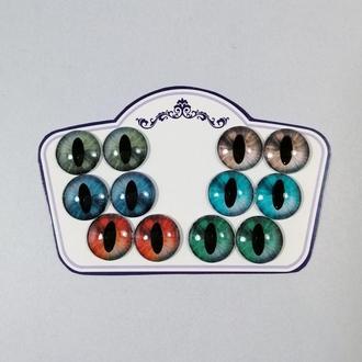 Кошачьи глаза для Blythe Стеклянные чипы для глаз Блайз ручной работы Зеленые красные голубые глаза