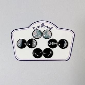 Набор Лунные глаза для Blythe Стеклянные чипы для глаз Блайз ручной работы Фазы луны