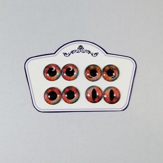 Глаза для Blythe на Хеллоуин Стеклянные чипы для глаз Блайз Красные мистические глаза для кукол