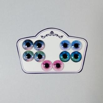 Глаза для Blythe Голубые и розовые Стеклянные чипы для глаз кукол Блайз Реалистичные глазки