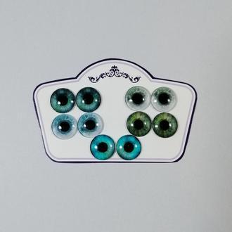 Глаза для Blythe Зеленые изумрудные Стеклянные чипы для глаз кукол Блайз Реалистичные глазки