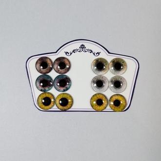 Глаза для Blythe Карие и желтые Стеклянные чипы для глаз кукол Блайз Реалистичные глазки