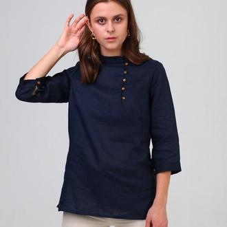 Жіноча сорочка з льону (411)