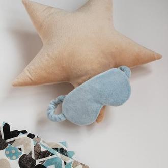 Подушка звезда пастельно бежевая, плюшевая подушка звезда, бежевая звезда подушка