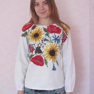 Валяная блузка вышиванка Украинская