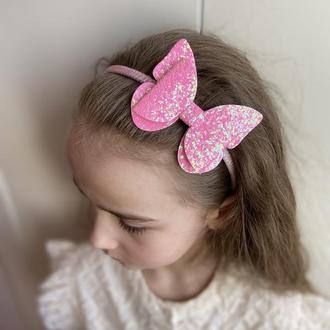 Обруч метелик  рожевий яскравий