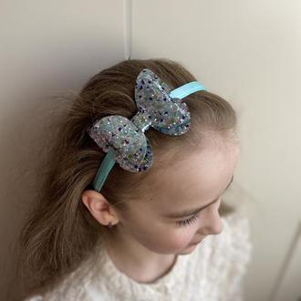 Обруч метелик блакитно-синій