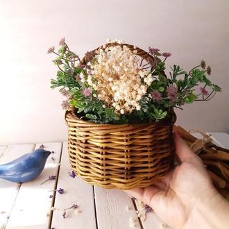 Плетеная корзинка коричневого цвета Корзинка на Пасху Корзинка для фруктов