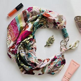 """Шелковый платок """"Морозное утро"""" от бренда my scarf, Премиум коллекция !"""