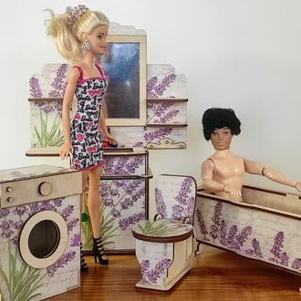 Ванний набір для ляльок. Меблі для ляльок і лялькових будиночків